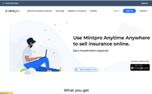 MintPro Insurance Login @www.mintpro.in