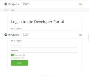 Development Portal Login and Registration Page