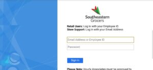 Grocers Portal Login and Registration Page