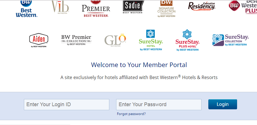 Login to Mybestwestern