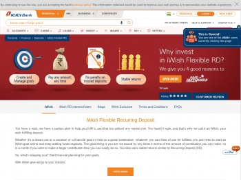 Flexible Recurring Deposit - Open iWish Flexi Recurring ...