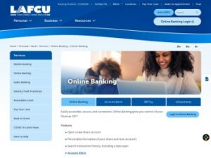 lafcu online Login and Registration Page