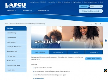Online Banking - LAFCU