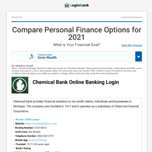 Chemical Bank Login