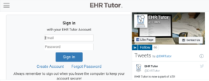 EHR Tutor Login