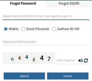 Forget your password SSOID