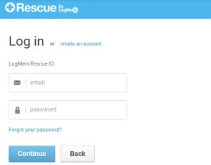 How to login Rescue123