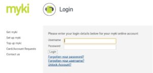 How to login myki