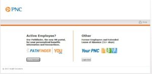 PNC Pathfinder Employee Login and Registration Page