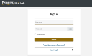 Purdue University Global Login and Registration Page