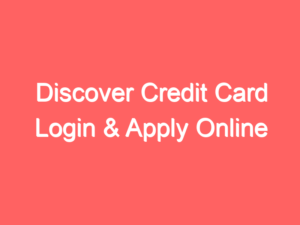 Discover Credit Card Login and Registration Page