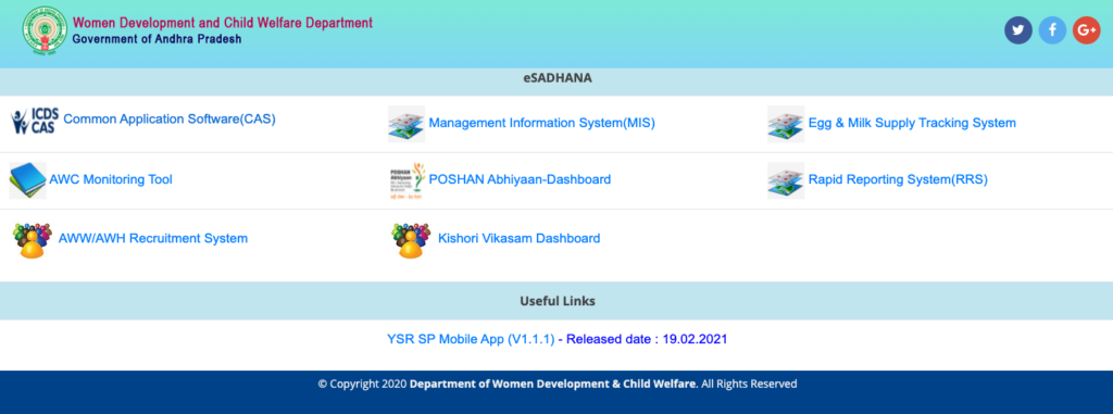 E Sadhana AP and Telangana - WDCW ap.gov.in / tg.nic.in