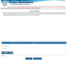 JKPaySys Login at jkpaysys.gov.in (Bill Salary Slip, e-Challan CPISId)