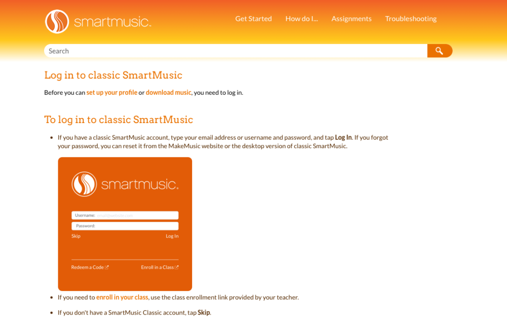 smartmusic login for student