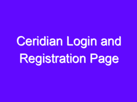 Ceridian Login and Registration Page