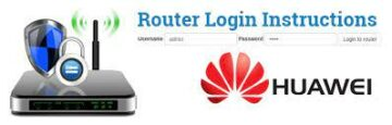 Huawei Router Default Login @192.168.3.1