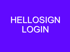 Hellosign Login Help Page at hellosign.com