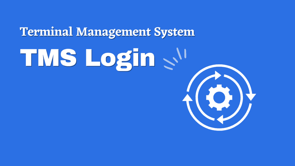 Terminal Management System (TMS Login Page)