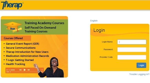 Therap login, Therapeutic services Login, therap training academy login, therap provider code login. therapy notes login, how to use therap